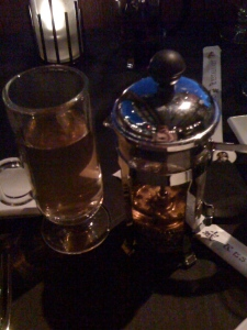 Jasmine Tea served in a French press