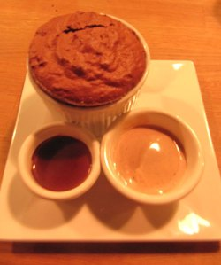 The Dark Chocolate Souffle was a sweet end to a perfect meal at Ludobites