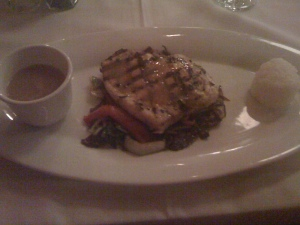 Center Cut Jamaican Swordfish at Restaurant Christine Torrance, CA